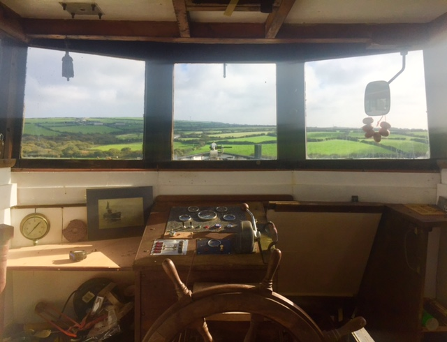 Inside of embrace, a wilder life blog, cornwall, tiny home conversion