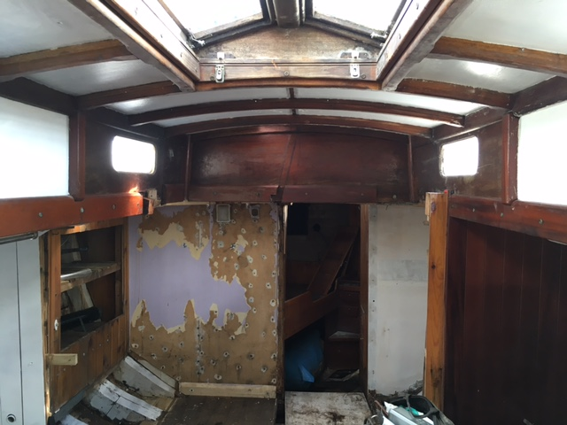 Renovating a fishing trawler into a tiny home on a farm in Cornwall